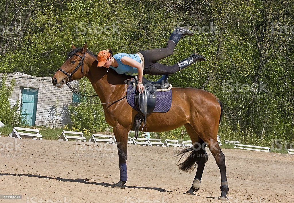 Exercise On The Horse 2 royalty-free stock photo