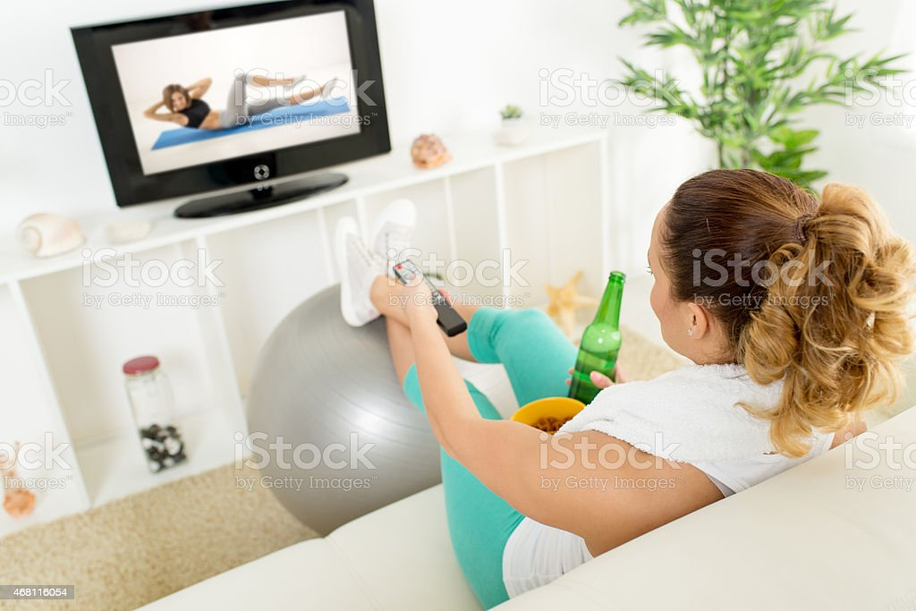 Exercise Or Not stock photo