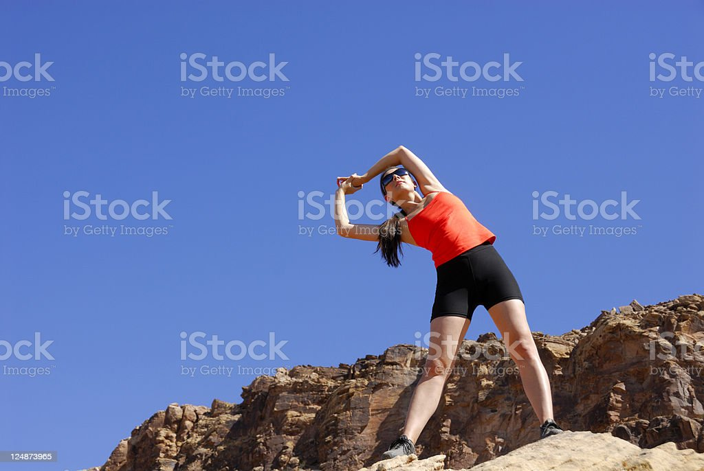 Exercise - The Key To Healthy Living royalty-free stock photo
