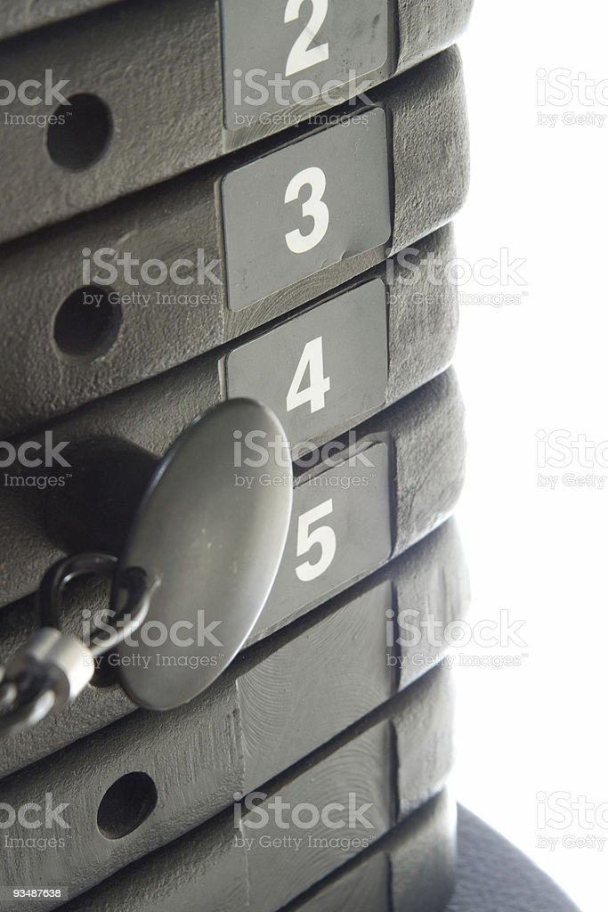 Exercise Weights (2) royalty-free stock photo