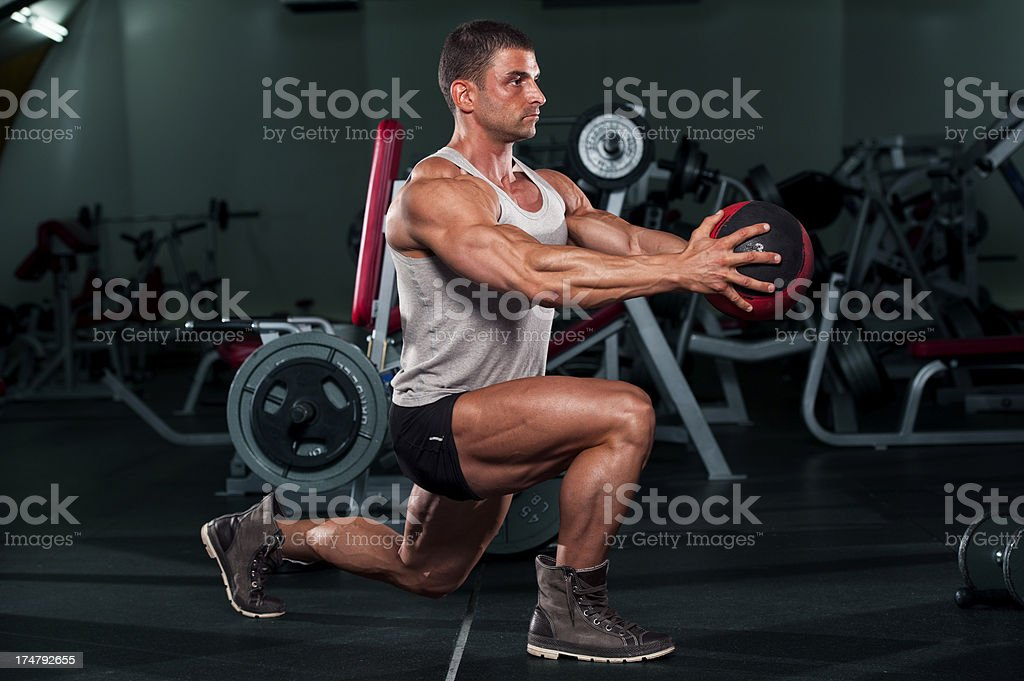 Exercise With Medicine Ball royalty-free stock photo
