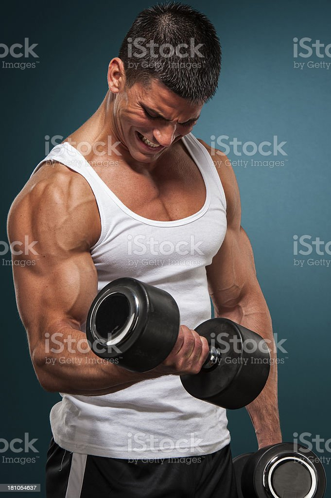 Exercise With Weights royalty-free stock photo
