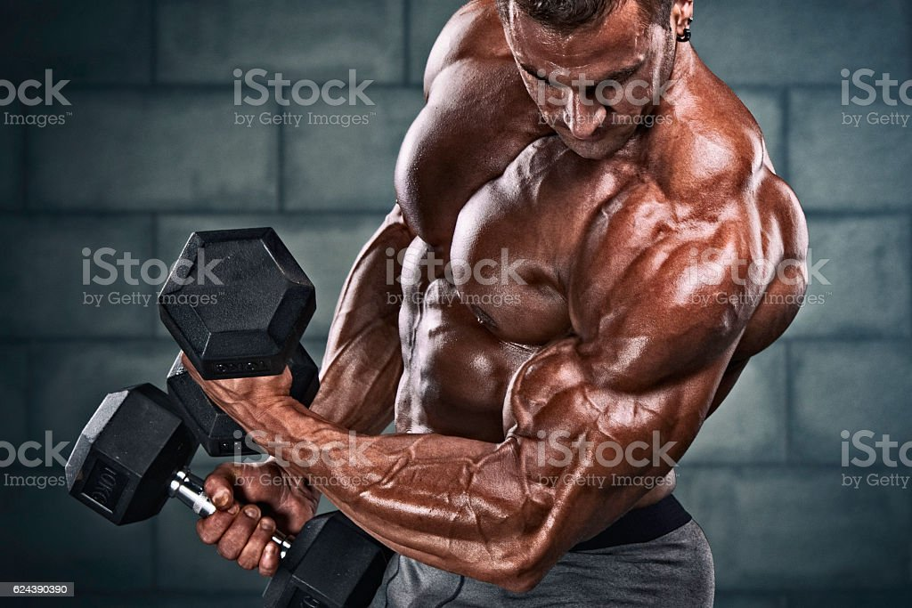 Exercise With Weights stock photo