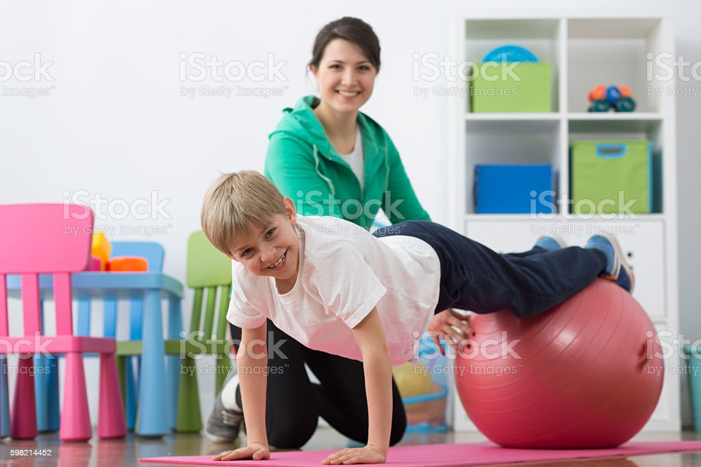 Exercises do not have to be boring stock photo