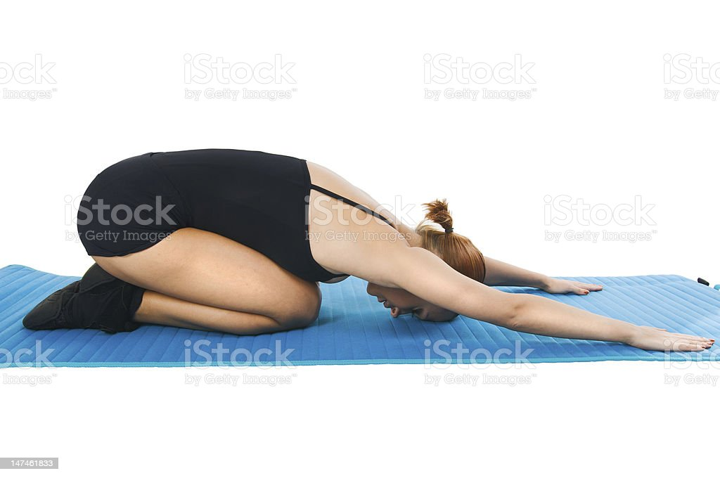 Exercises for relaxation stock photo