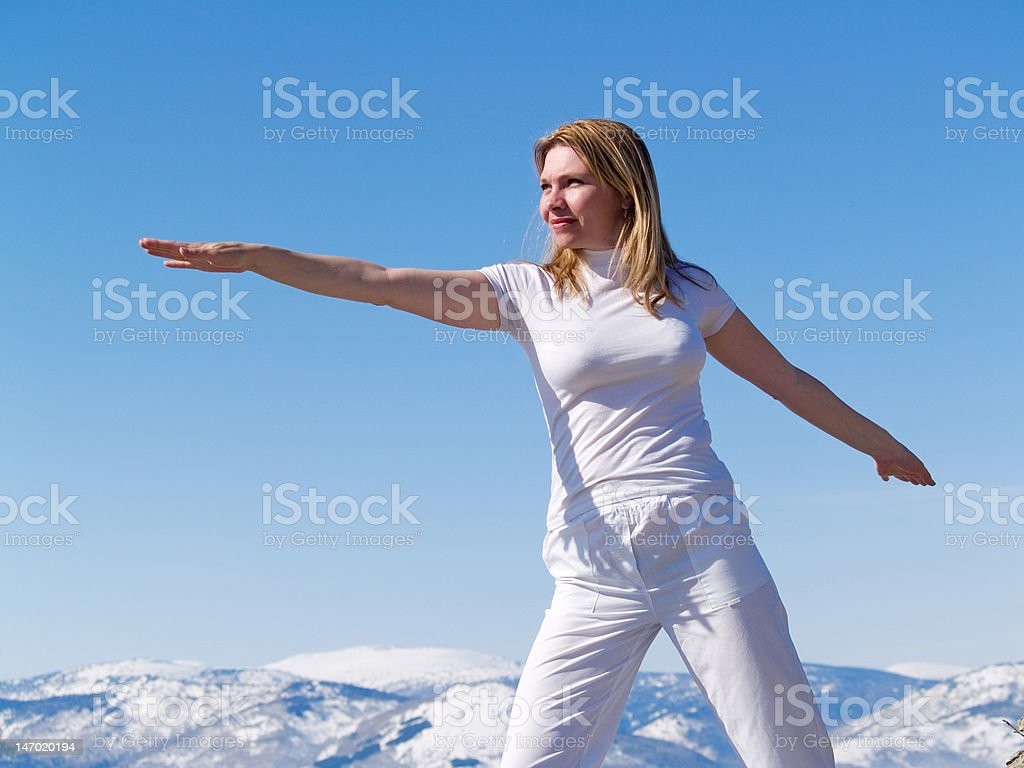 exercises in cool air royalty-free stock photo