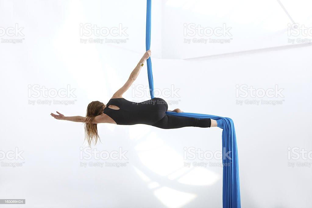 Exercising acrobatics royalty-free stock photo