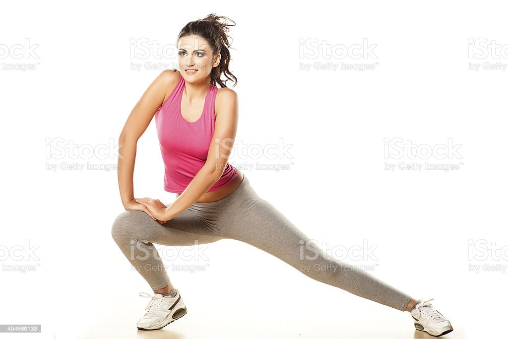 exercising girl royalty-free stock photo