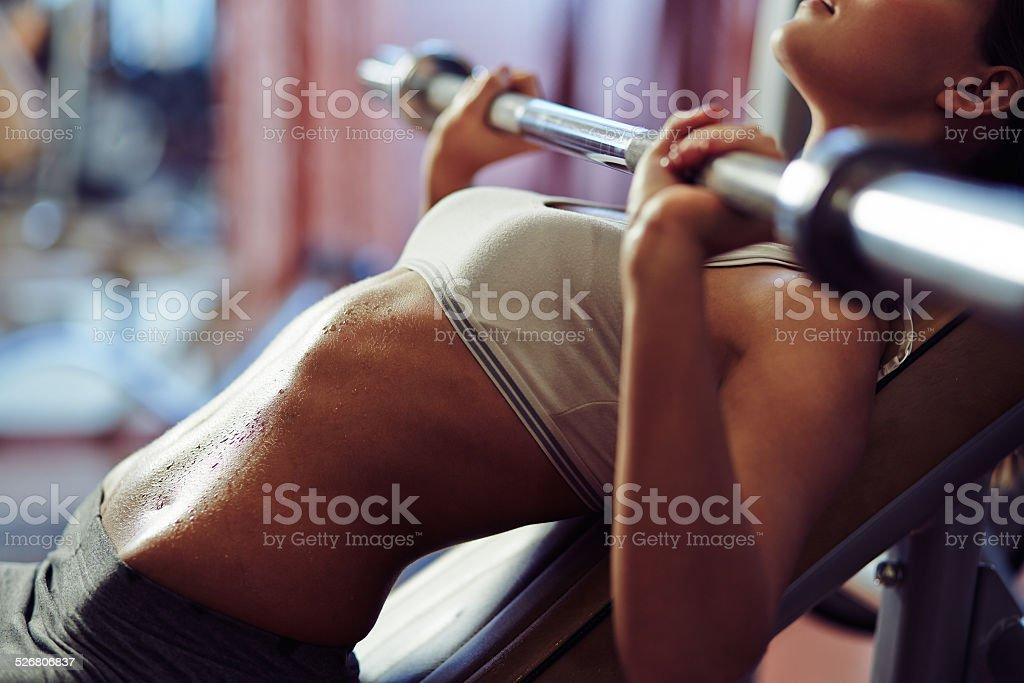Exercising hard stock photo