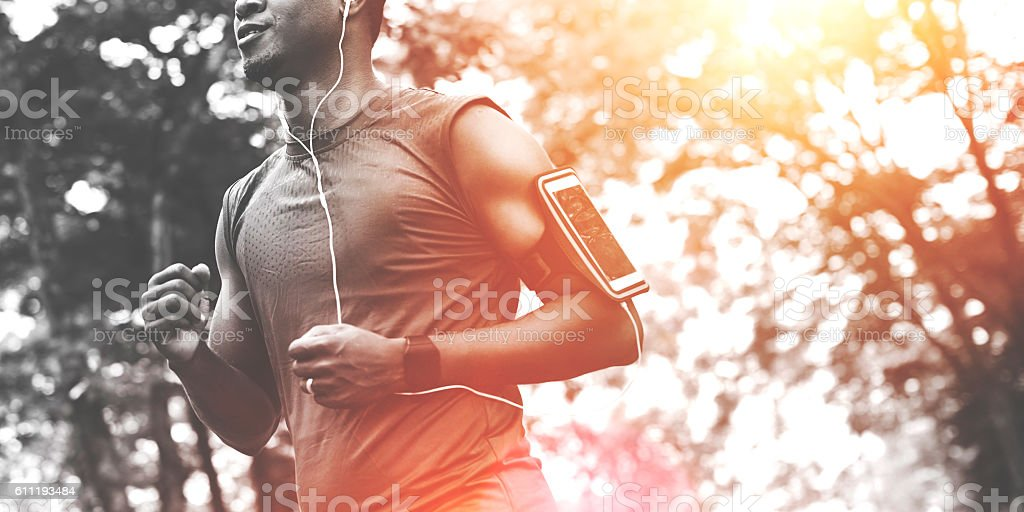 Exercising Healthy Jogging Wellness Relaxing Concept stock photo