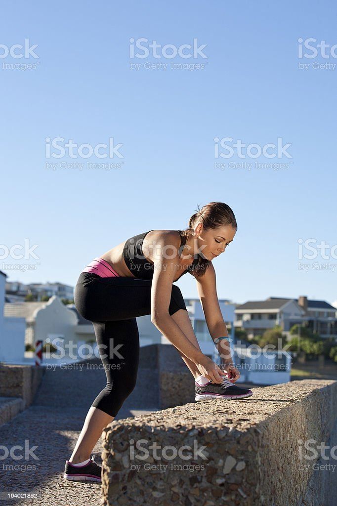 Exercising in the morning royalty-free stock photo
