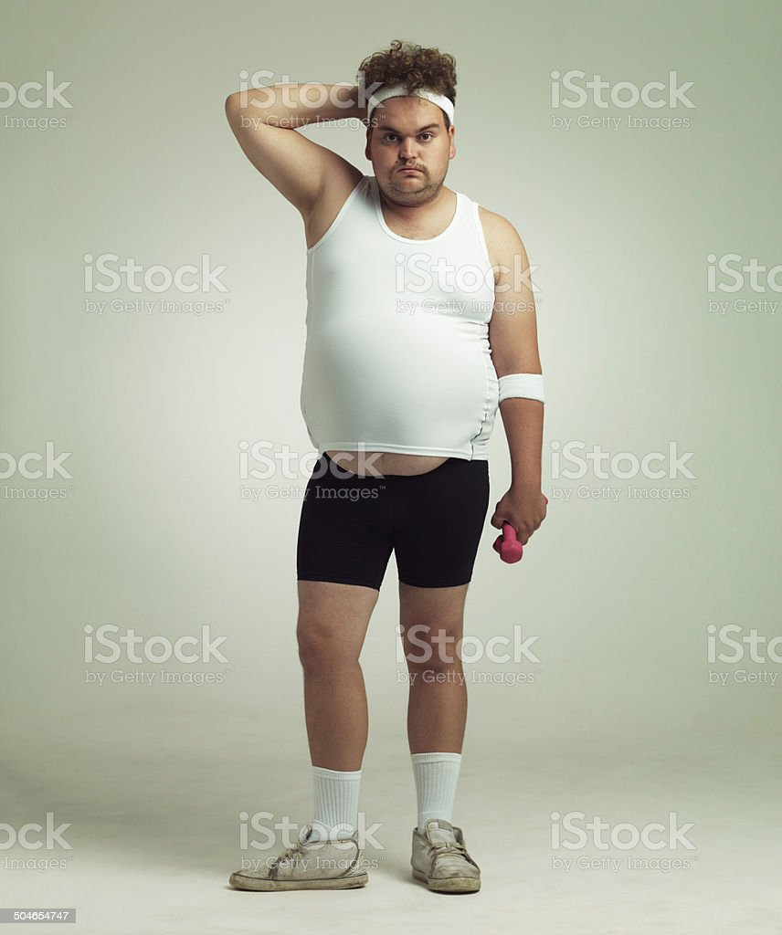 Exercising isn't as easy as i thought stock photo
