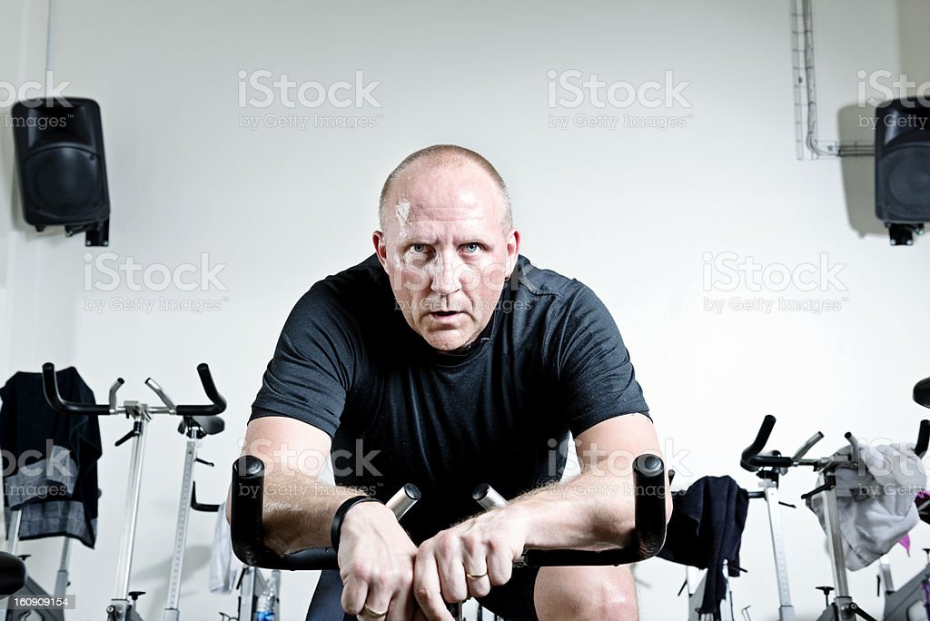 Spinning Man stock photo