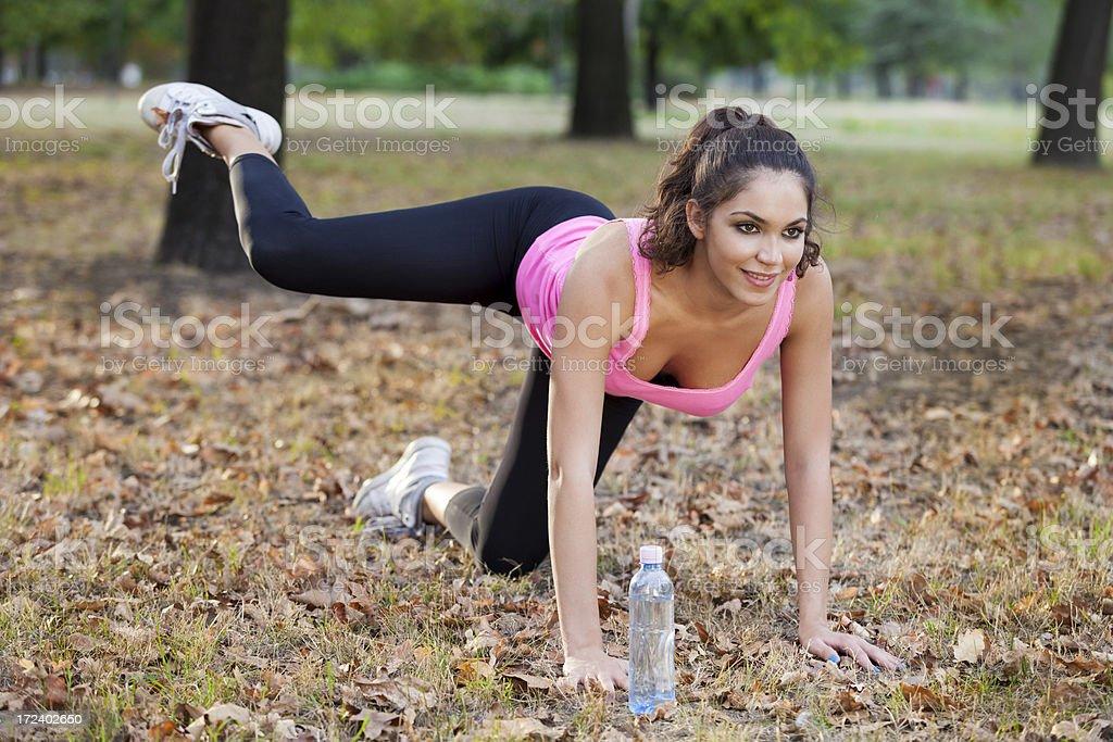 Exercising royalty-free stock photo