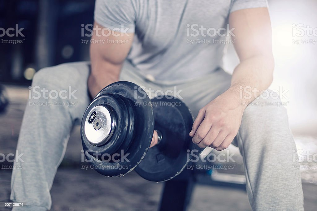 Exercising stock photo