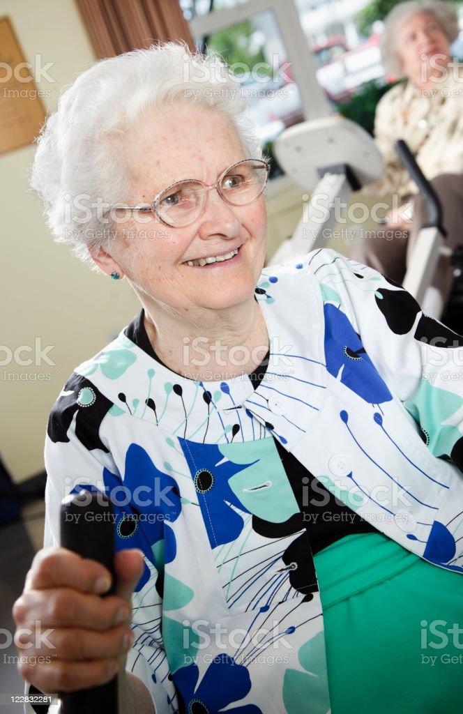 Exercising Senior Citizens royalty-free stock photo