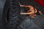 Exercising with tyre