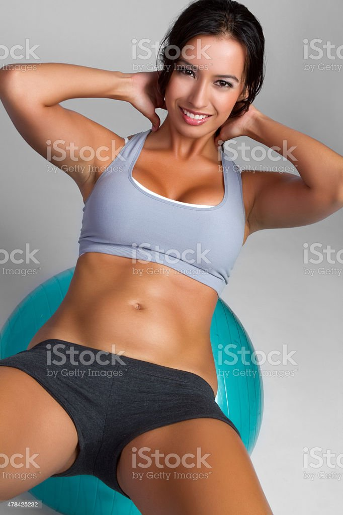 Exercising Woman stock photo