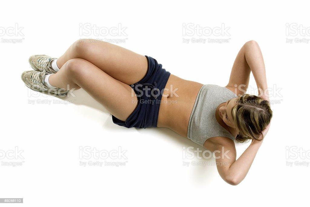 Exercising woman royalty-free stock photo