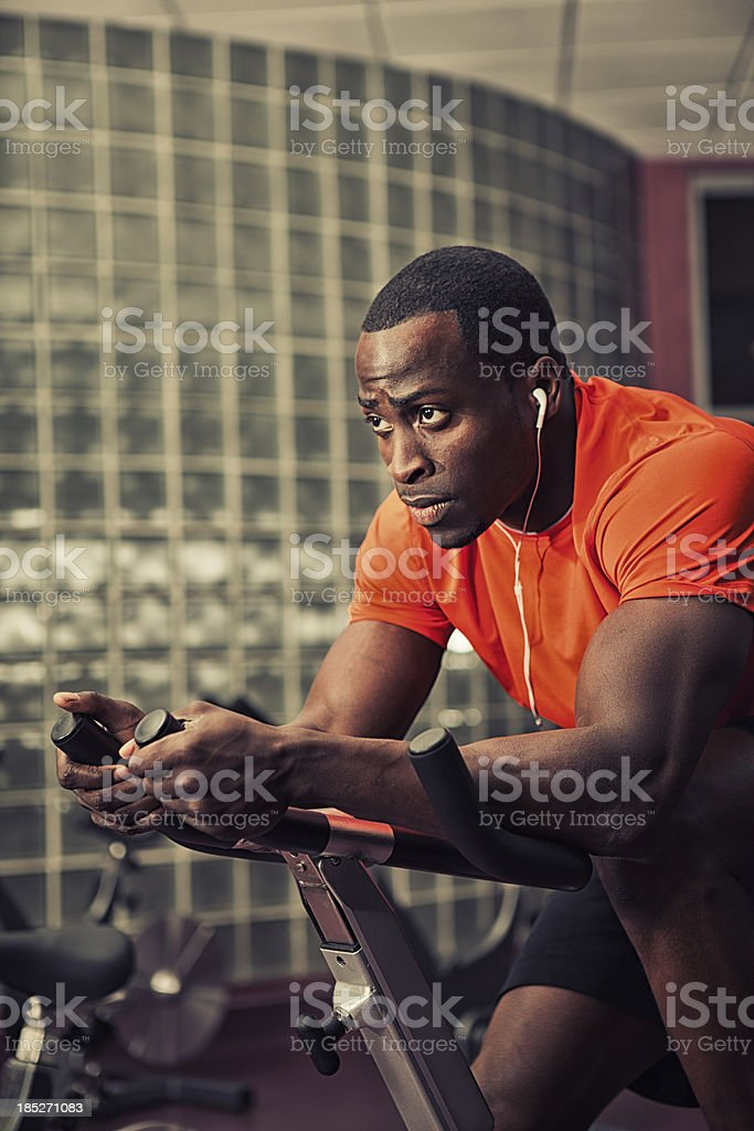 spinning workout stock photo
