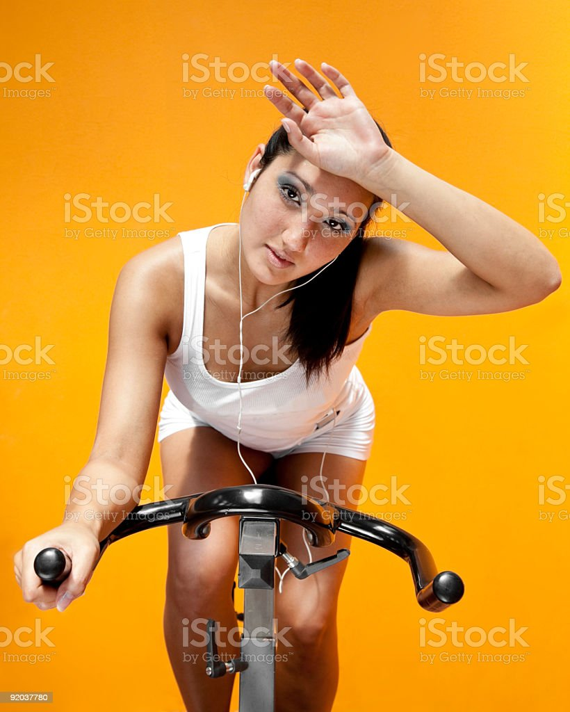 spinning workout royalty-free stock photo