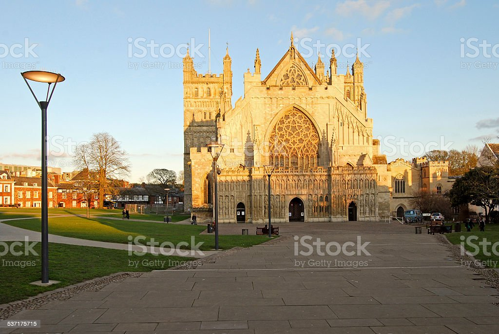 Exeter Cathedral - Church of St. Peter, Devon England stock photo