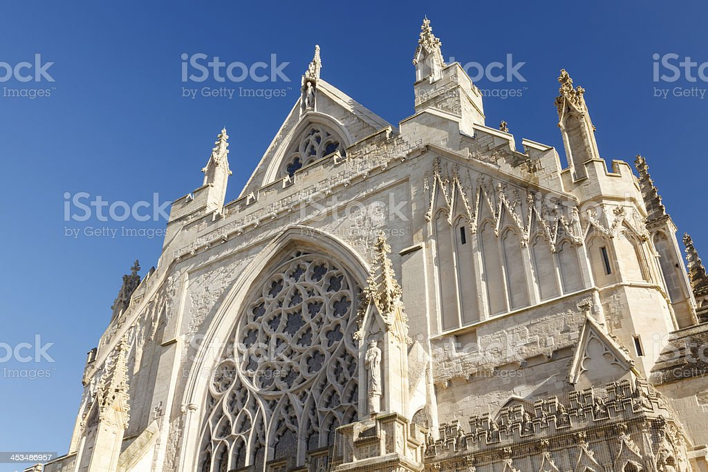 Exeter Cathedral Devon England UK stock photo
