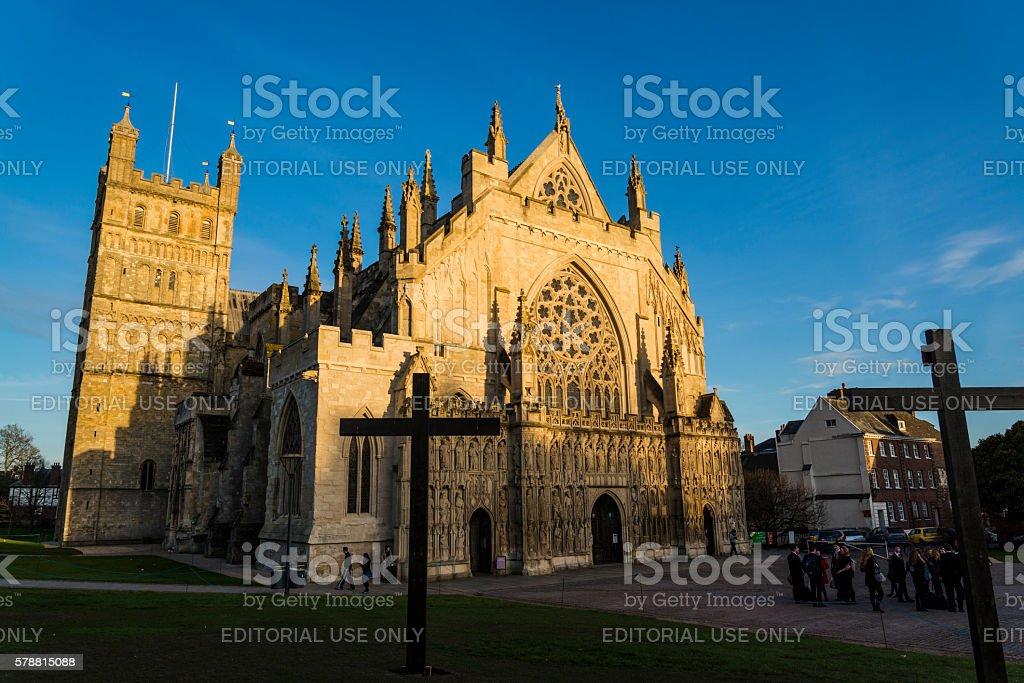 Exeter Cathedral, Devon, England, United Kingdom, UK stock photo