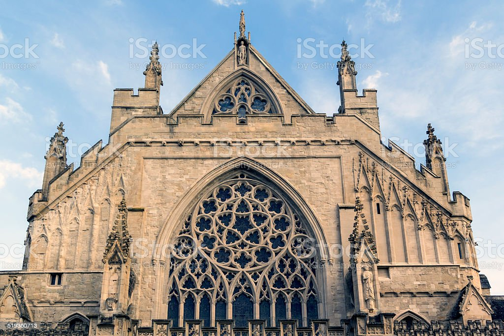 Exeter Cathedral Devon stock photo