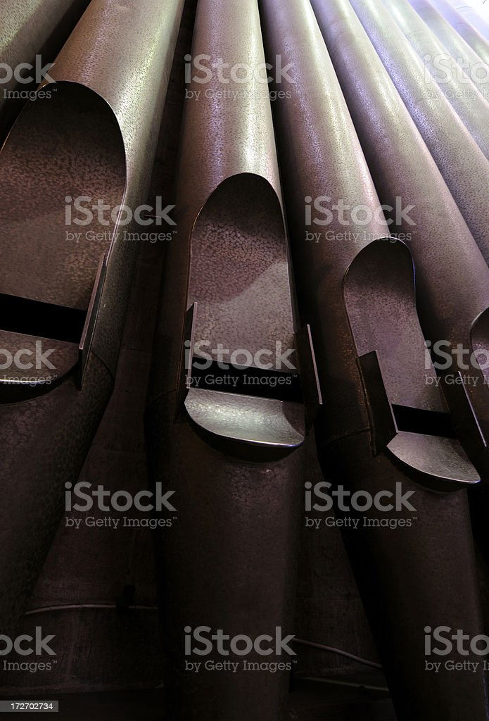 Exeter Cathedral Organ Pipes royalty-free stock photo