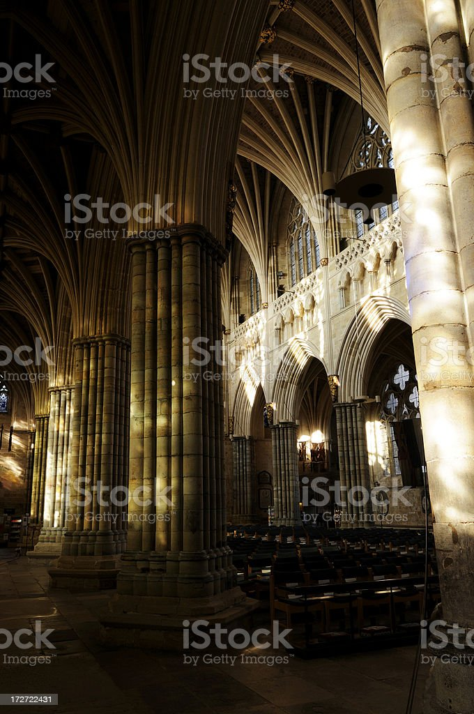 Exeter Cathedral stock photo