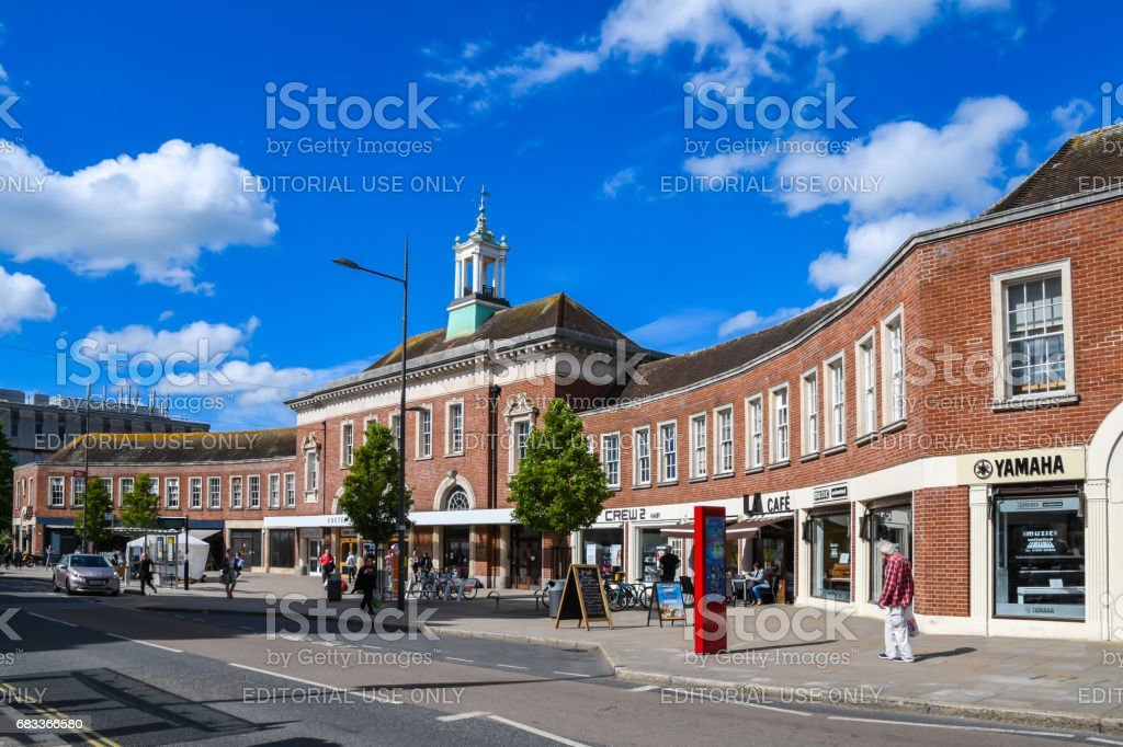 Exeter Central Train Station in Devon stock photo