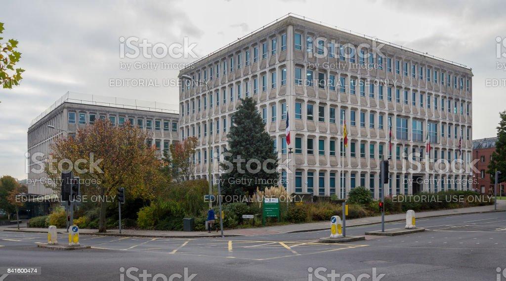 Exeter City Council. Paris street.  Devon, England stock photo