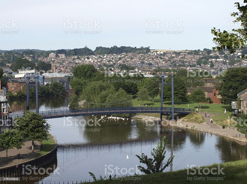 Exeter - Modern Bridge to Quayside stock photo