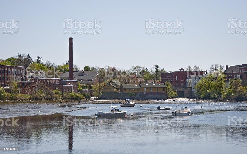 Exeter New Hampshire Fishing Boats stock photo