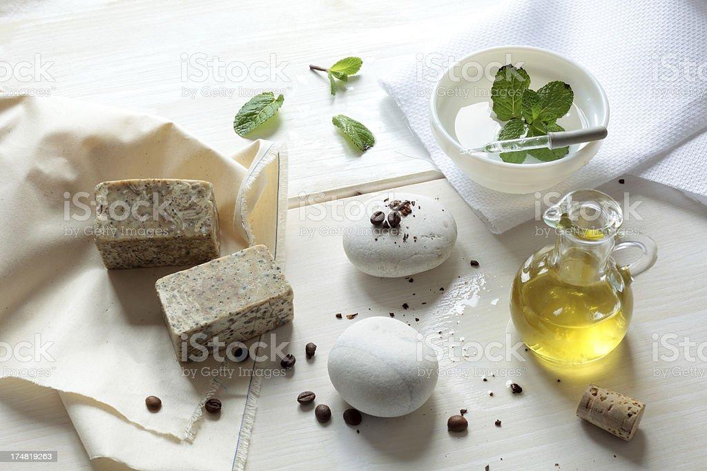 exfoliating soap stock photo