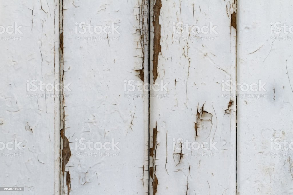 Peeling weißen Gitter Zaun Mantel – Foto