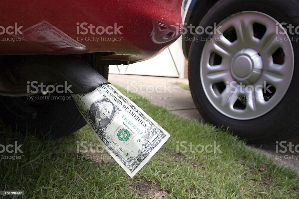 Exhaust Dollars royalty-free stock photo