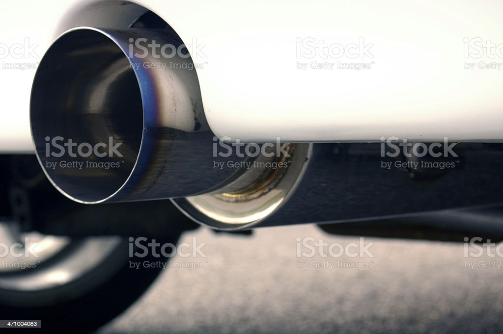 4' Exhaust royalty-free stock photo
