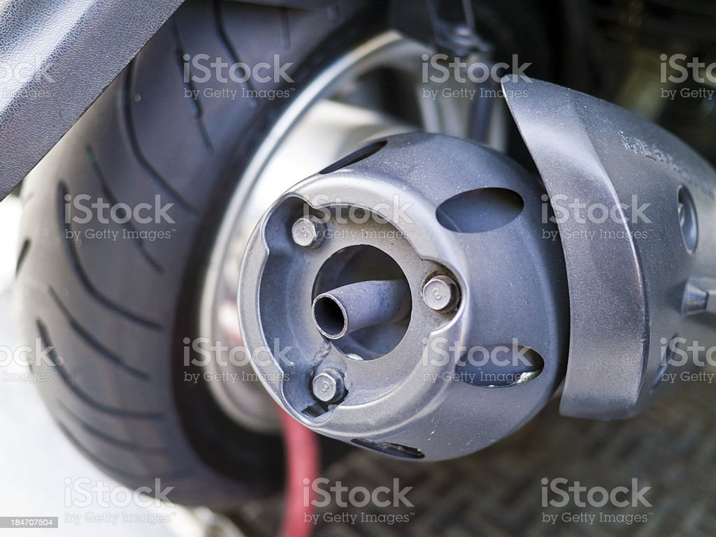 exhaust pipe royalty-free stock photo