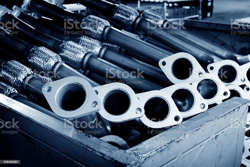 Exhaust pipe stock photo