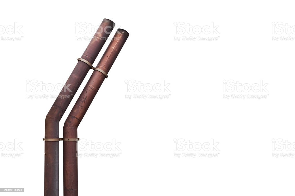 Exhaust pipes isolated stock photo