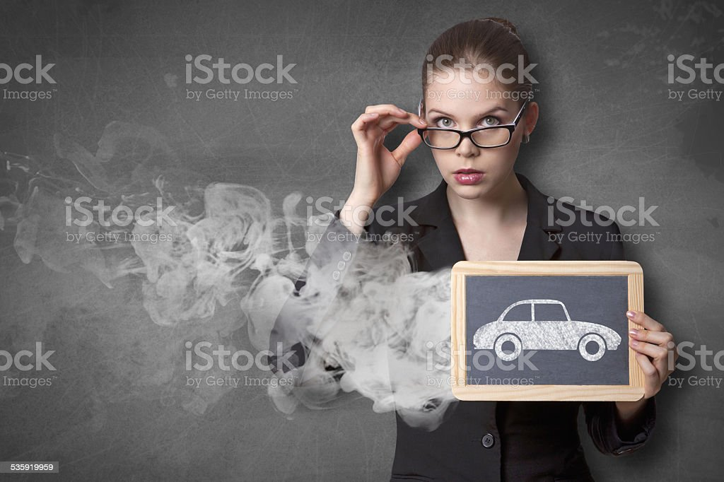 exhaust pollution stock photo