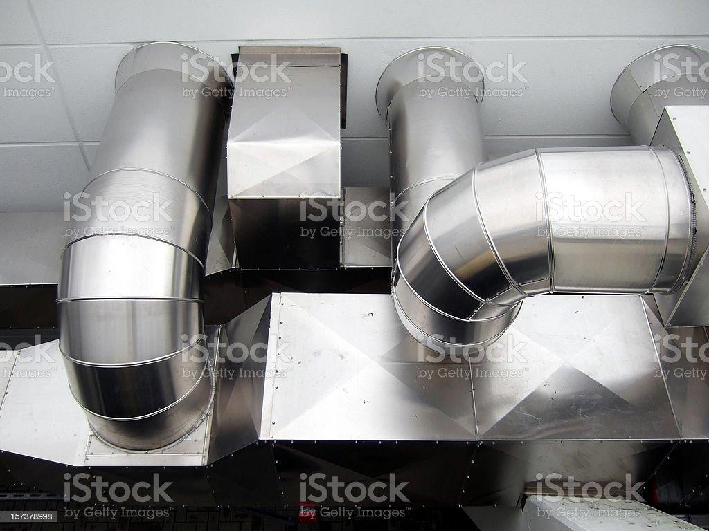 exhaust tubes royalty-free stock photo