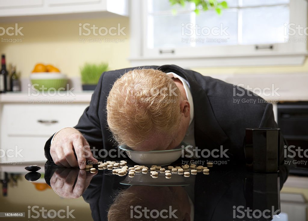Exhausted Businessman royalty-free stock photo
