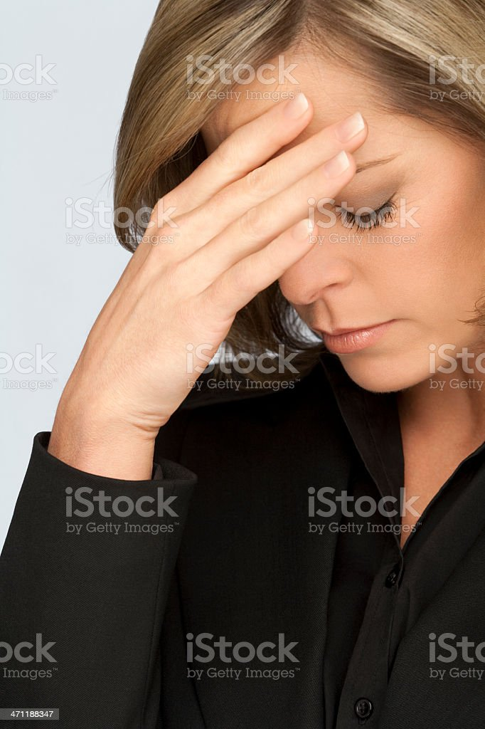 Exhausted Businesswoman royalty-free stock photo