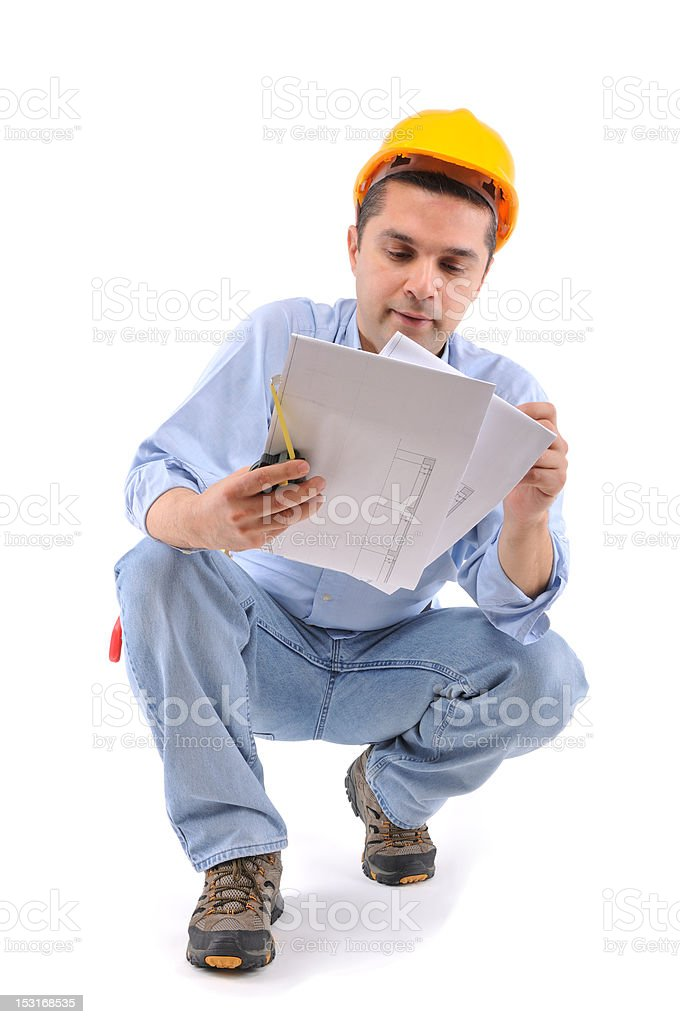 Exhausted Carpenter royalty-free stock photo