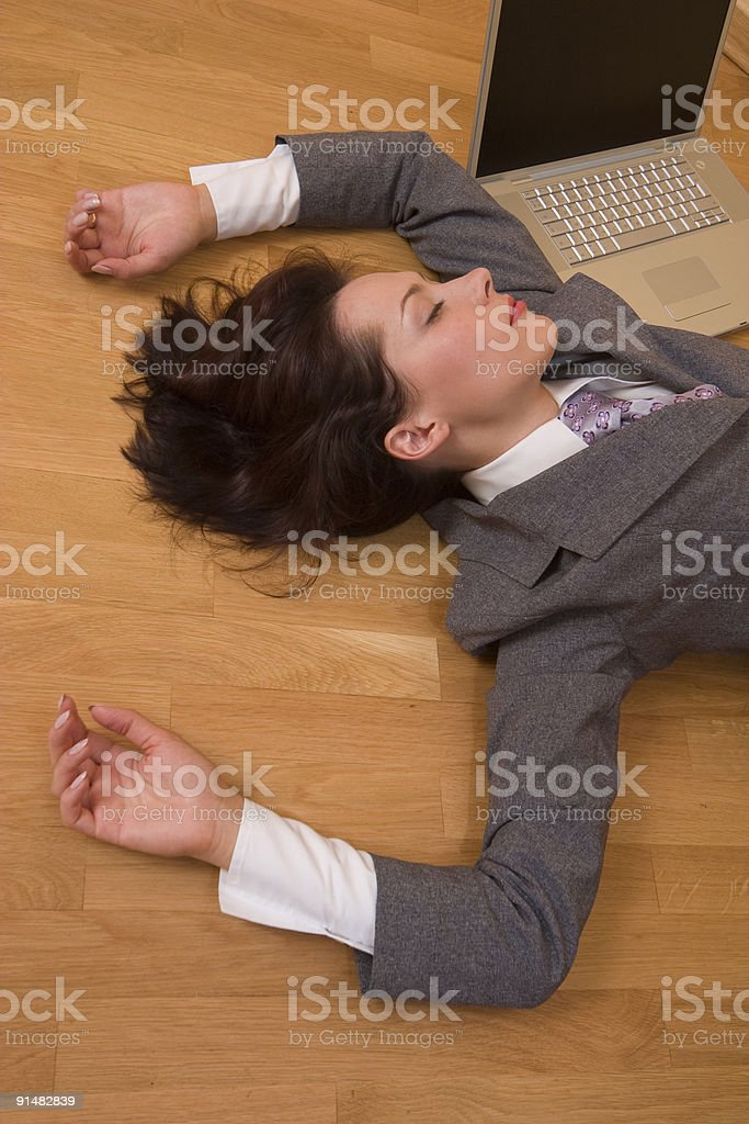 Exhausted girl royalty-free stock photo
