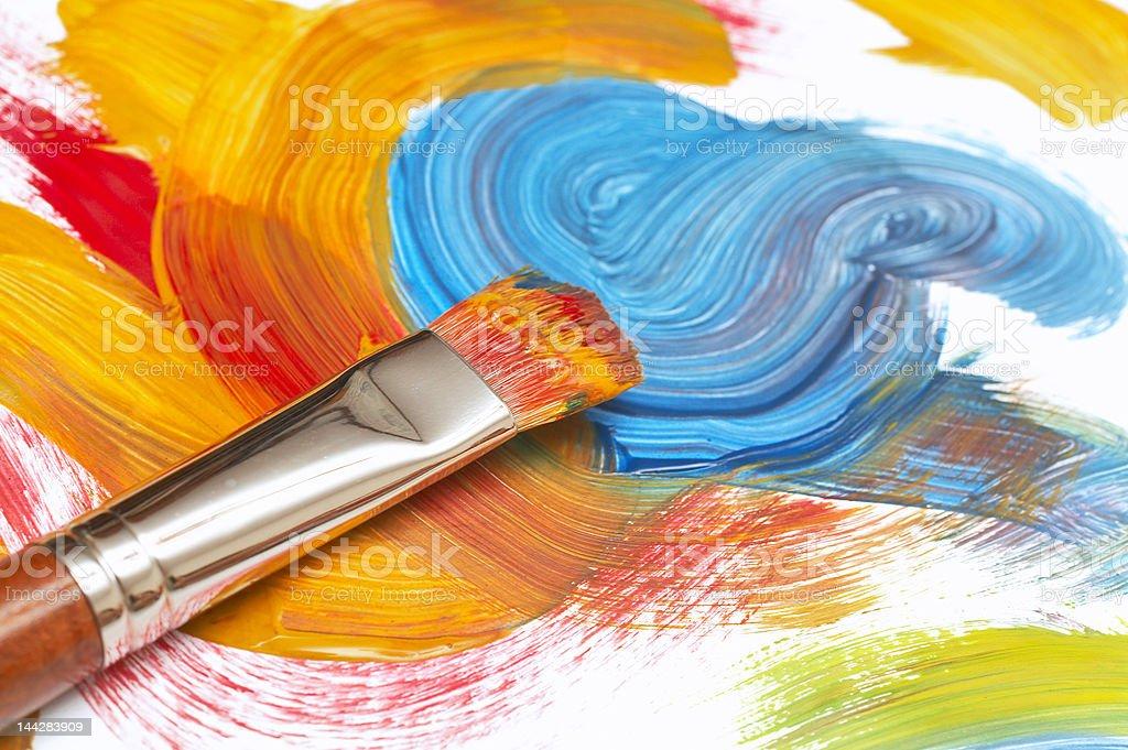 exhausted paintbrush stock photo
