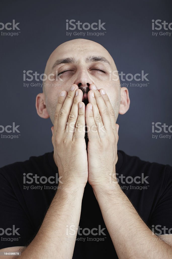 Exhausted stock photo